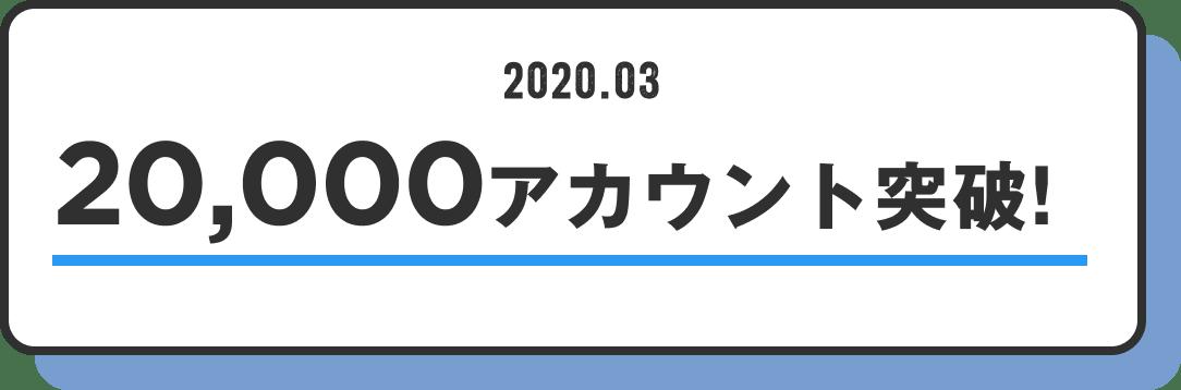 20,000アカウント突破!