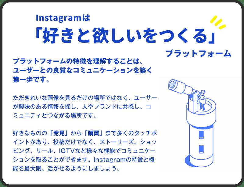 01 Instagramは「好きと欲しいをつくる」プラットフォーム